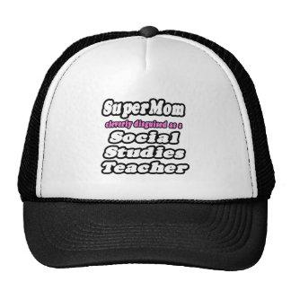SuperMom...Social Studies Teacher Mesh Hat