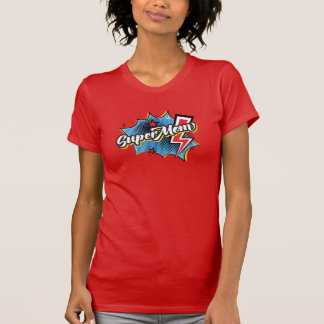 SuperMom Superhero comic style Gift t-shirt in Red