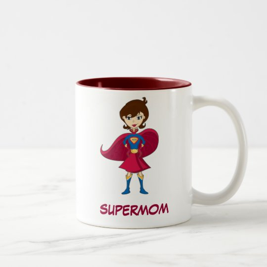 SUPERMOM Two-Tone COFFEE MUG