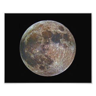 Supermoon in Full Color Photo Art
