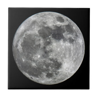Supermoon Moon Ceramic Photo Tile