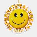 Supernatural Freak Smile Round Ceramic Decoration
