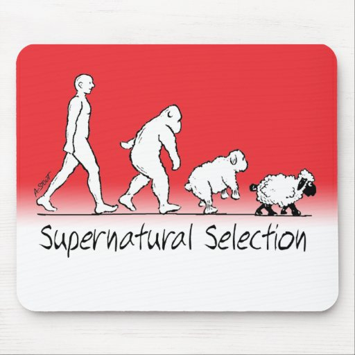 Supernatural Selection - From Man to Sheep! Mousepad