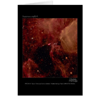 Supernova 1987A Hubble Telescope Photo Cards