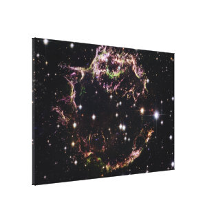 Supernova Remnant Cassiopeia A - March 2004 Gallery Wrap Canvas