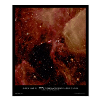 Supernova SN1987A in the Large Magellanic Cloud Poster