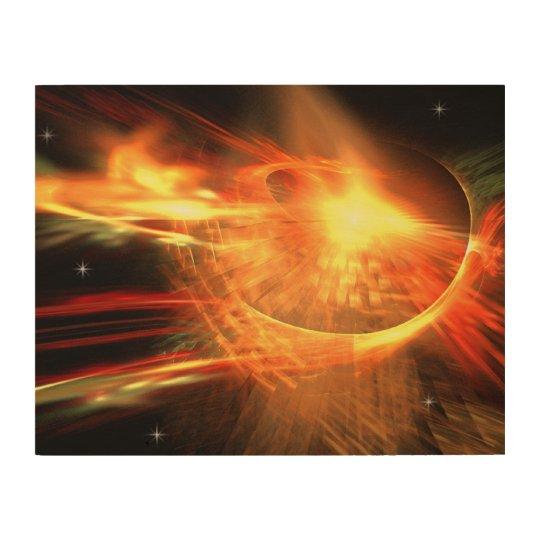 Supernova Wood Wall Decor