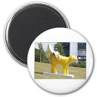 superpeeledbannana 6 cm round magnet