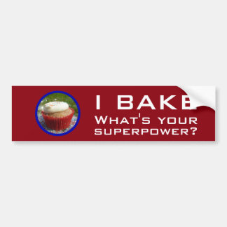Superpower (Cupcake) Bumper Sticker