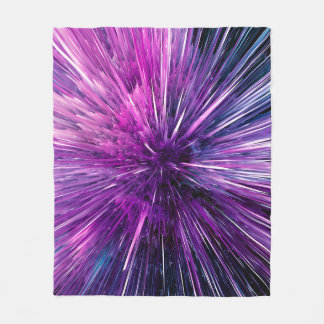 supersonic abstract fleece blanket
