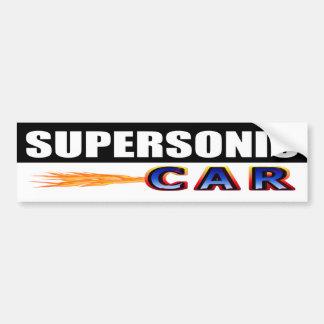 Supersonic Car Bumper Sticker