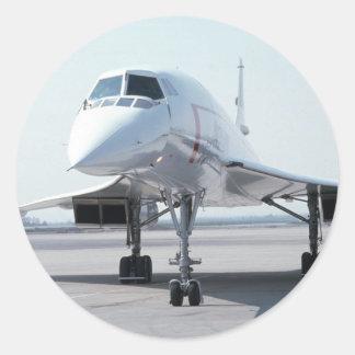 Supersonic Concorde Round Sticker