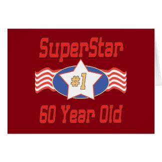 Superstar 60th Birthday Greeting Card