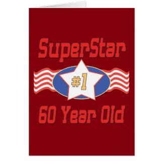Superstar 60th Birthday Note Card
