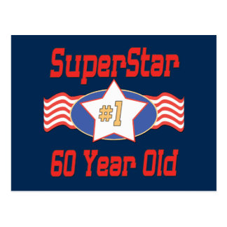 Superstar 60th Birthday Postcard
