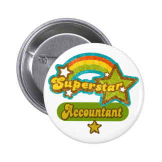 Superstar Accountant 6 Cm Round Badge