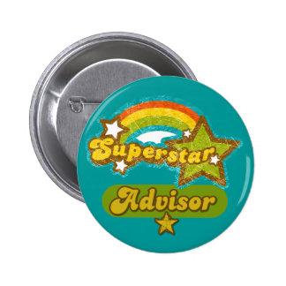 Superstar Advisor 6 Cm Round Badge