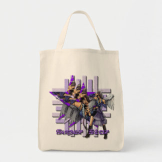 Superstar Angel - Organic Grocery Tote