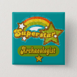 Superstar Archaeologist 15 Cm Square Badge