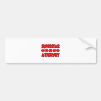 Superstar Attorney Bumper Sticker