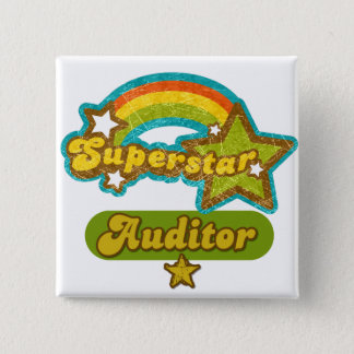 Superstar Auditor 15 Cm Square Badge