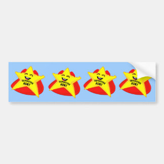 superstar aunt funny bumper sticker