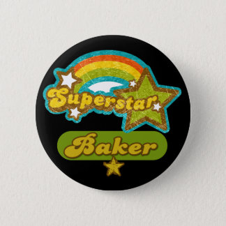 Superstar Baker 6 Cm Round Badge