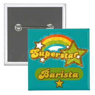 Superstar Barista 15 Cm Square Badge