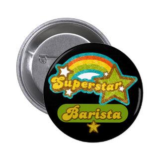 Superstar Barista 6 Cm Round Badge