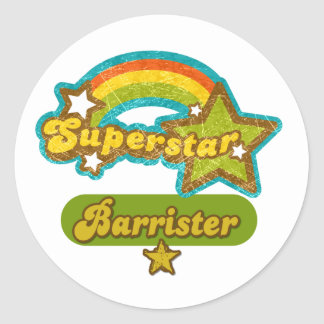 Superstar Barrister Round Sticker