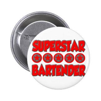 Superstar Bartender 6 Cm Round Badge