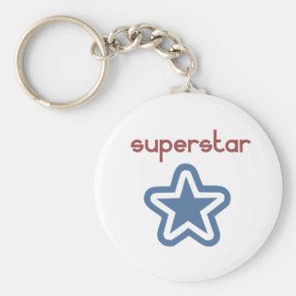 SUPERSTAR BASIC ROUND BUTTON KEY RING