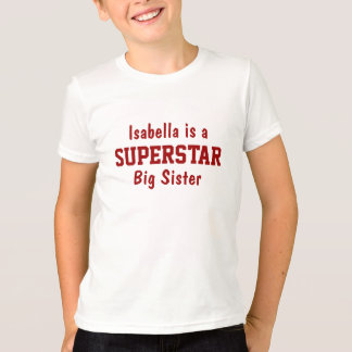 Superstar Big Sister Personalized T-Shirt