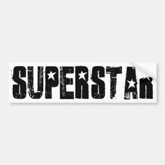 Superstar black bumper sticker