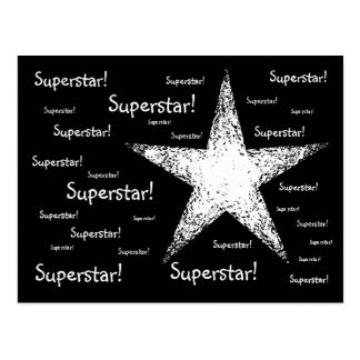 Superstar! | Black Postcard