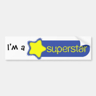 Superstar Bumper Sticker