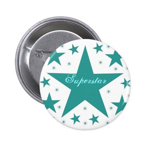 Superstar Button, Teal