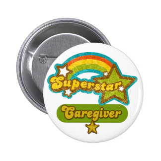 Superstar Caregiver 6 Cm Round Badge
