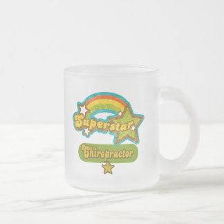 Superstar Chiropractor Frosted Glass Coffee Mug