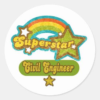 Superstar Civil Engineer Sticker