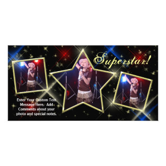 SuperStar Custom Photo Card, Model Pageant Kids... Photo Card Template