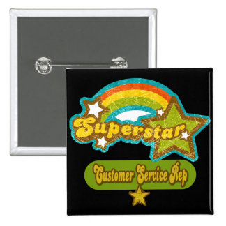 Superstar Customer Service Rep 15 Cm Square Badge