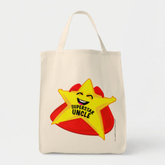 superstar dad humorous father's day bag! grocery tote bag
