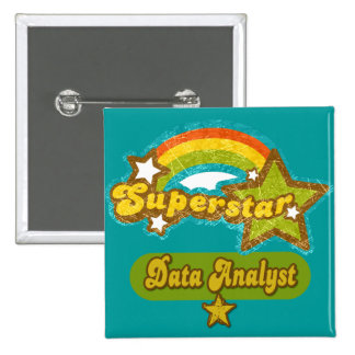 Superstar Data Analyst 15 Cm Square Badge