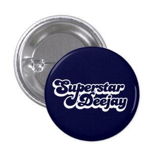 Superstar Deejay 3 Cm Round Badge