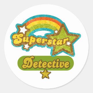 Superstar Detective Round Sticker