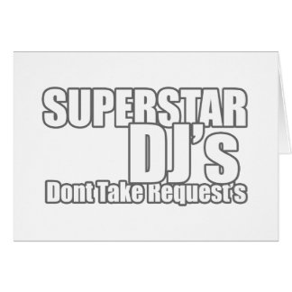 Superstar DJ Greeting Card