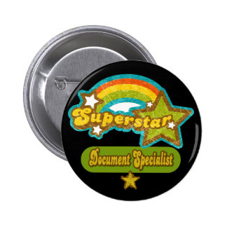 Superstar Document Specialist 6 Cm Round Badge