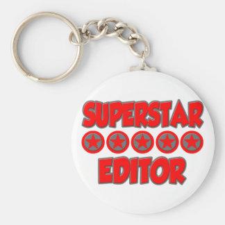 Superstar Editor Basic Round Button Key Ring