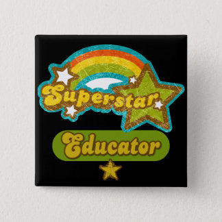 Superstar Educator 15 Cm Square Badge